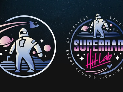 Superbad Hit Lab throwback 80s icon scifi space illustration mascot