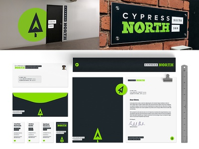 Cypress North athletic fresh sleek branding