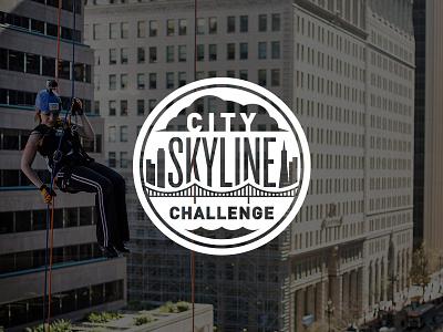 City Skyline Challenge fundraiser non-profit san-francisco skyline emblem badge