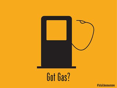 Got Gas silhouette parody gotmilkparody visualdesign gasoline gasstation gas