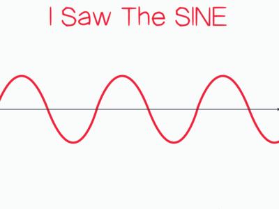 Sine Wave Design colors flatdesign pun visualdesign aceofbase sine sinewave mathematics calculus