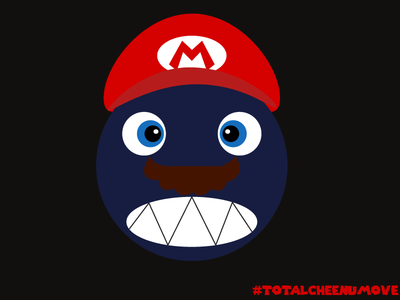 Chain Chomp Mario characterdesign gamedesign visualdesign flatdesign nintendo supermarioodyssey mario chainchomp