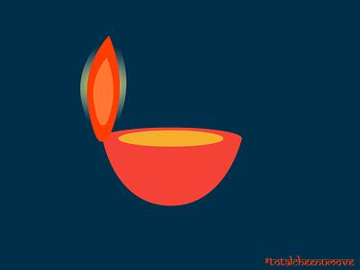 Diwali Diya 2017 diya lit adobeillustrator brightness ux festivaloflights spark visualdesign light diwali