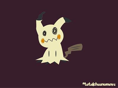 Mimikyu Design characterdesign gamedesign ux ui materialdesign flatdesign ghost halloween nintendo pokemon mimikyu