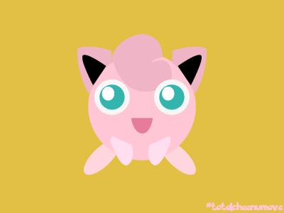 Jigglypuff Design characterdesign gamedesign ui illustration illustrator visualdesign nintendo pokemongo pokemon jigglypuff
