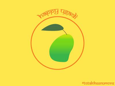 Happy Ugadi icon graphicdesign visualdesign mango kannada telugu india indianholiday ugadi
