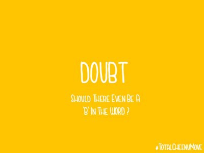 Doubt ux ui colorpsychology anxiety yellow color typography visualdesign humor doubt
