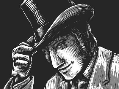 Dr. J. / Mr. H. WIP hyde jekyll vintage digital illustration illustration woodblock