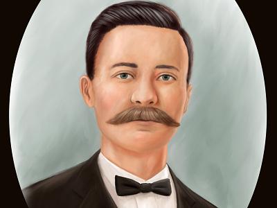 Dapper Portrait dapper painting illustration digital portrait