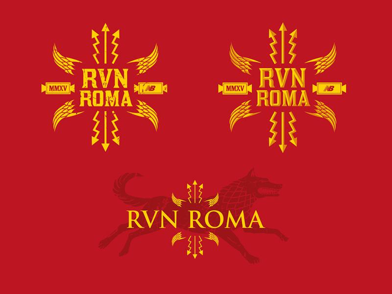 Rome Marathon T-shirt WIP rome marathon wolf roman illustration