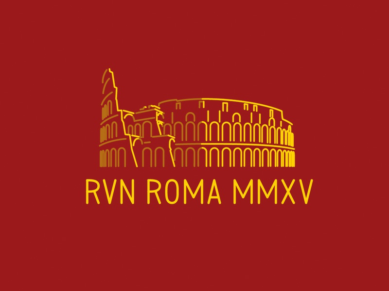 Colosseum colosseum rome line illustration