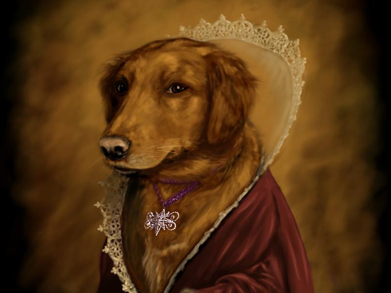 Portrait over-the-top portrait dog princess
