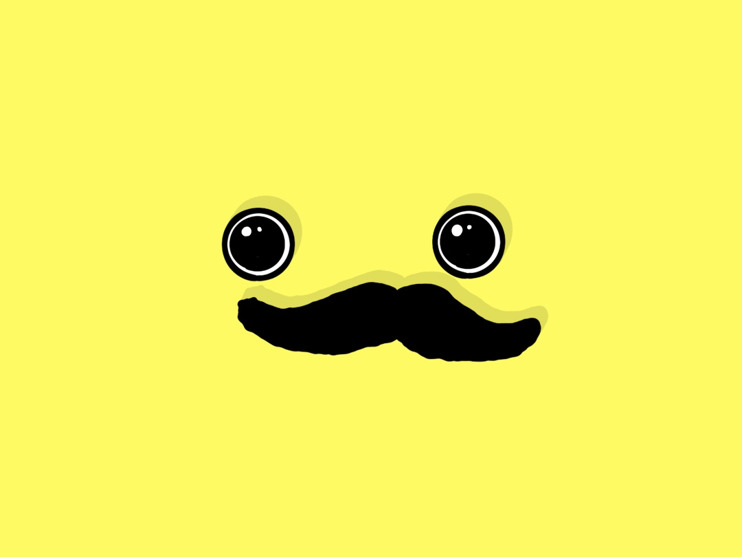 Mr. Mustachio yellow hair mustache