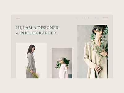 Modern & Minimal - Photographer Web Portfolio. modern web design minimal design adobe xd