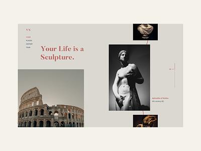 Museum - Web Concept. adobe xd modern web design web concept museum