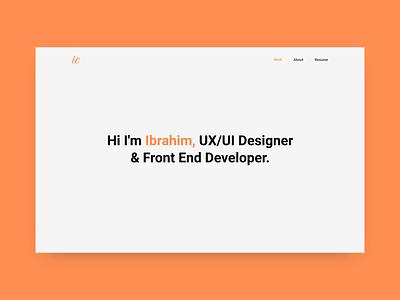Personal Portfolio web design modern web design scss case study modern minimalist beme javascript html css adobe xd webdesign
