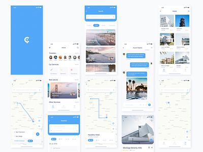 Travel App - UX Design Case Study ux design case study ui  ux design travel app adobe xd process trip app personal project