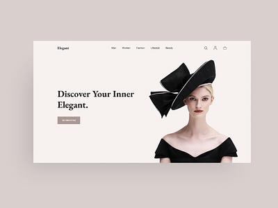 E-commerce - Web Concept adobe xd js scss html5 modern minimalist design e-commerce website modern web design