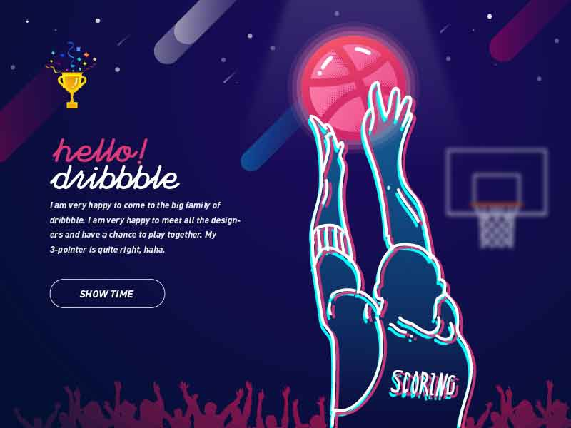 Hello Dribbble show shot,first first