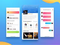 Social app interface design