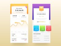 Financial app display