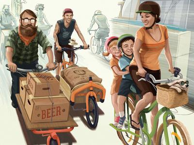Cargo Bike Illustration
