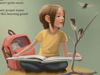 Children's Illustration illustration locust insects childrens book
