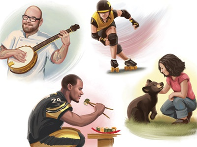 Pittsburgh Magazine Spot Illustrations pittsburgh illustrations spots