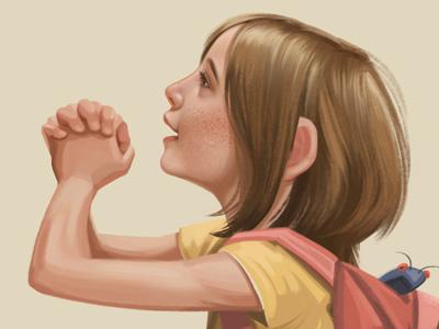 Close-Up illustration children