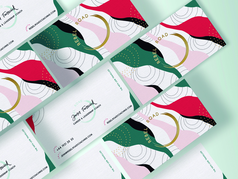 Rebel Road Business Cards stylish brand brand identity stationary design business stationary branding design coaching branding business card design coaching business cards coaching brand brand design branding business cards