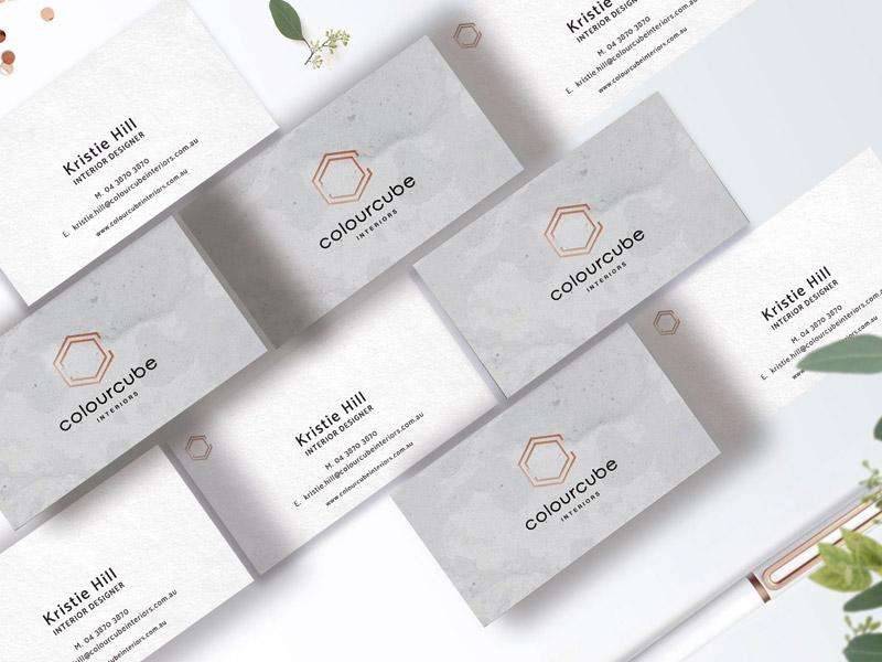 Colour Cube Business Cards logo stylish brand brand identity stationary design business stationary branding design interior designer business cards business card design interior design brand design branding business cards