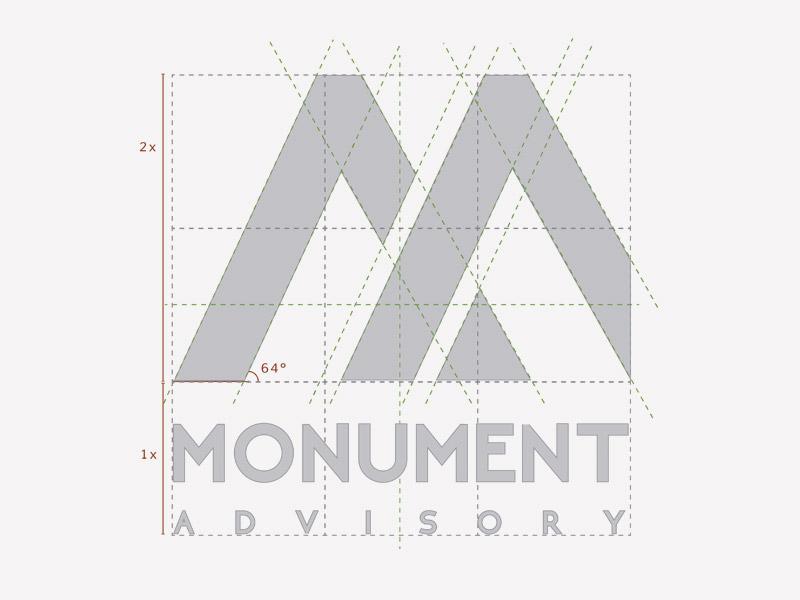 Monument Logo Design financial service logo advisory logo logo logo design