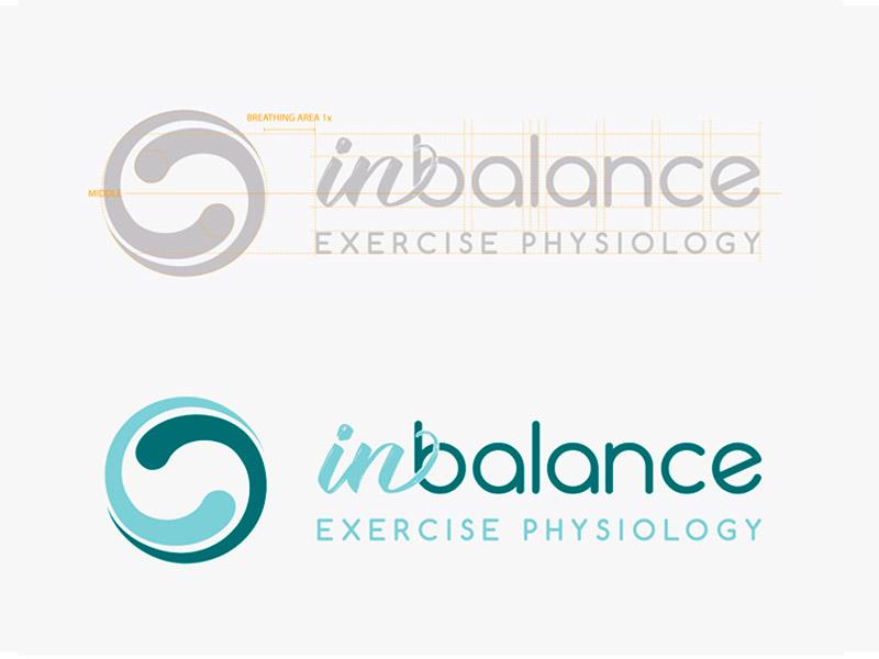 In Balance Exercise Physiology Logo Design medical logo physiology logo health logo branding logo design logo