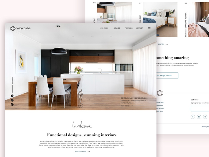 Colour Cube Interiors Home Page by Rosa Spencer | Dribbble | Dribbble