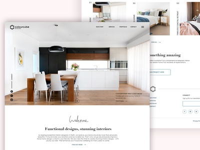 Colour Cube Interiors Home Page by Grafika Studio - Dribbble