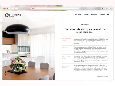 Colour Cube Interiors Process Page by Rosa Spencer - Dribbble