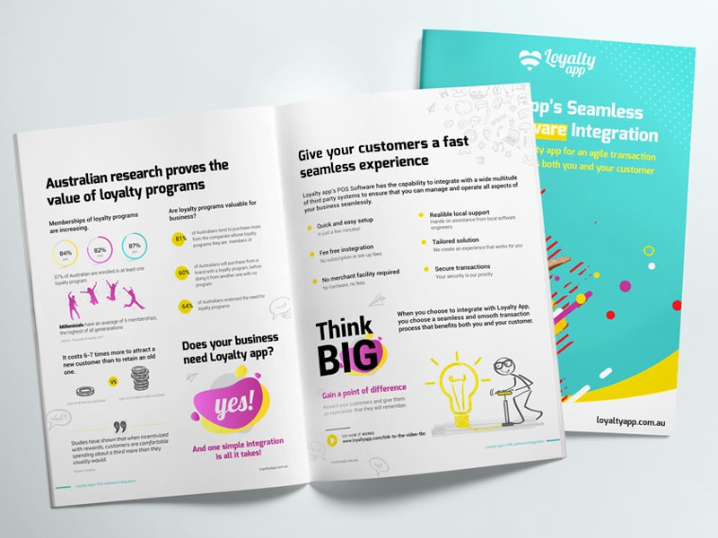 Pos Integration Bi fold collateral flyer layout branding graphic design pos brochure bi fold