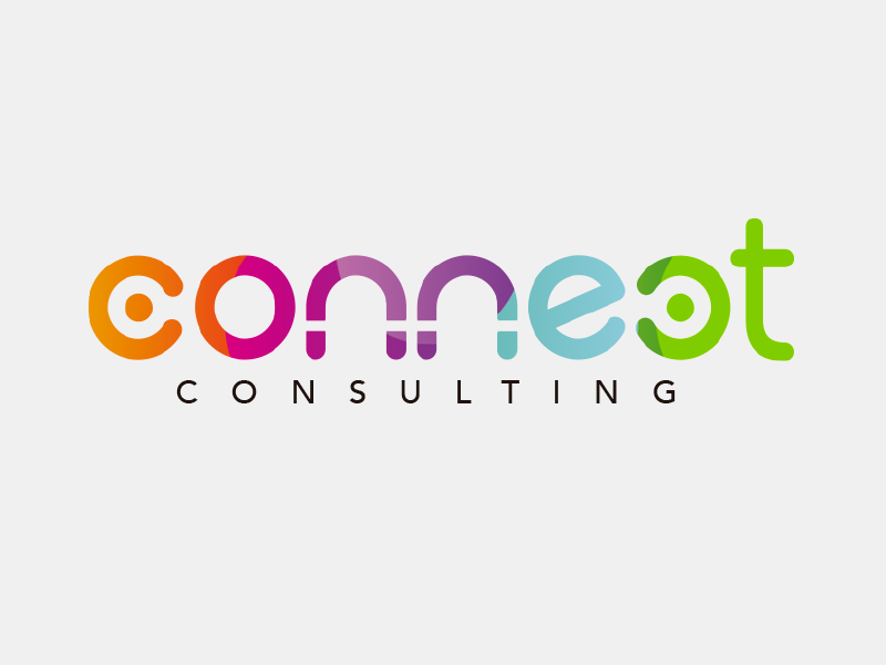 Connect Consulting Logo Concept graphic design logo design visual identity multicolour logo community human resources design branding consulting logo connect
