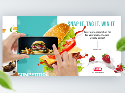 Snap & Win Competition Header