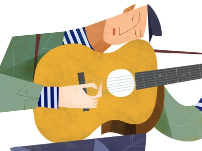 Guitar Man bob dylan folk music matisse picasso