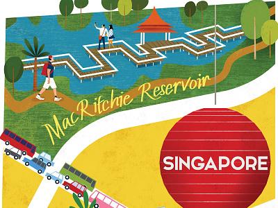 Virgin Map Singapore travel editorial tourism singapore citymap map