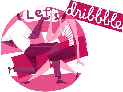 Hello Dribbble and let's dance watusi twist dance