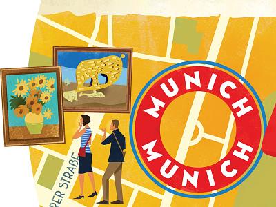 Munich Map (detail) map glass beer