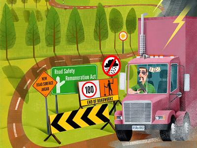 Keep on Truckin' furry dice law transport