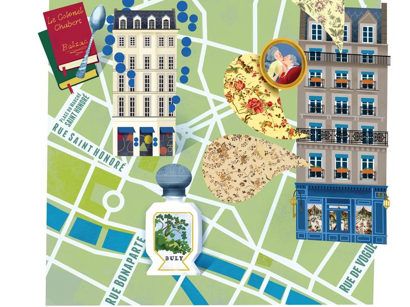 Illustrated Map of Paris 2/2 lovers magazine tourism map travel illustration editorial