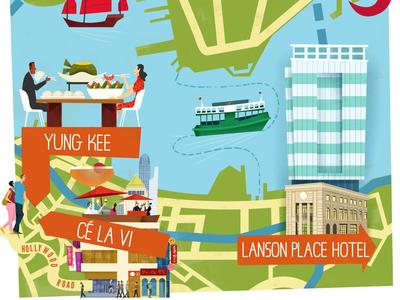 Illustrated map of Hong Kong