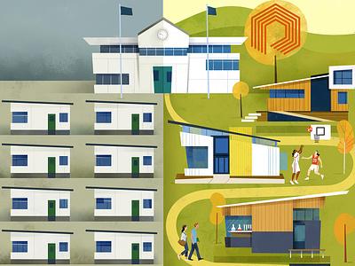 From grab to bright schools construction school magazine design magazine cover magazine architecture illustration editorial