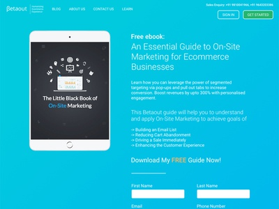 E-Book Landing Page Design