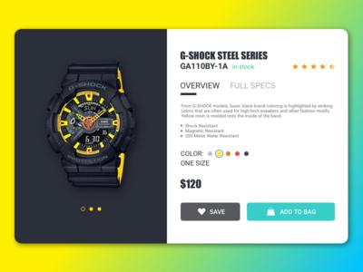G-Shock Watch Card