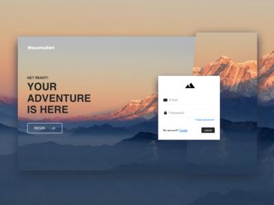 Login Screen Mountsafari